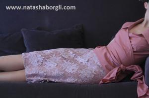 rosa blonde skj bluse med knyting - Copy